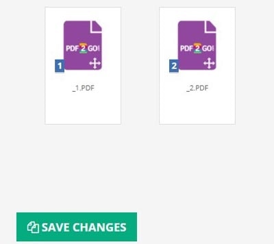 pdf2go - save and changes